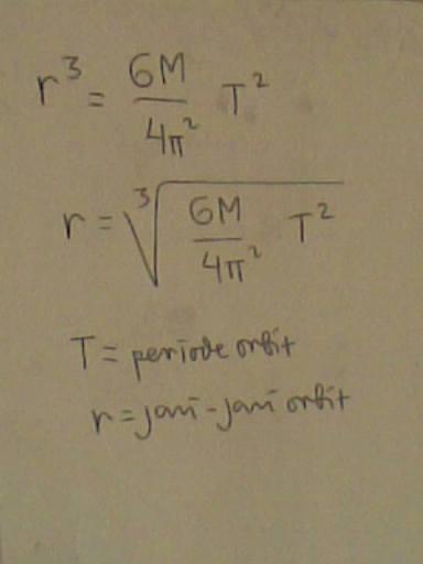 hubungan jarak orbit dengan periode orbit